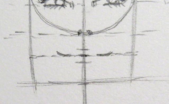 Dibujo que marca la apertura de la boca y las comisuras en forma de sonrisa