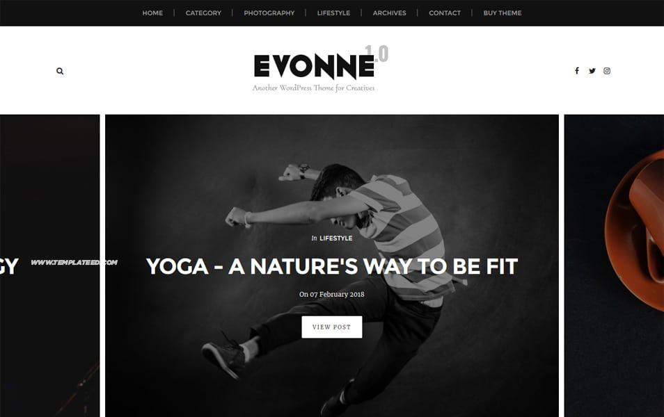 Evonne Responsive Blogger Template