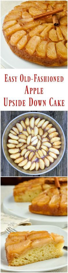 Old Fashioned Apple Upside Down Cake