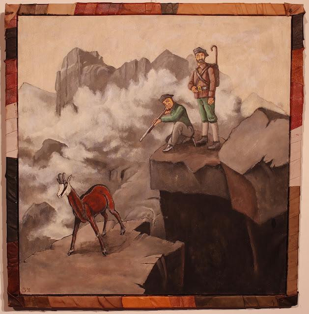 Chasseurs de chamois dans les Alpes