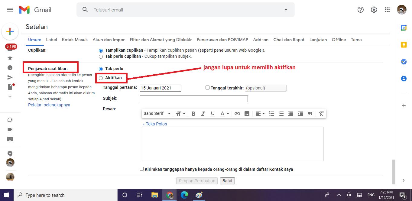 membuat email balasan di gmail