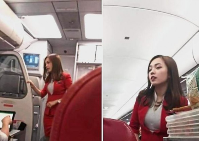 Instant fame: The photos of Goo that went viral on social media after an AirAsia passenger George Wong posted it on his Facebook page.