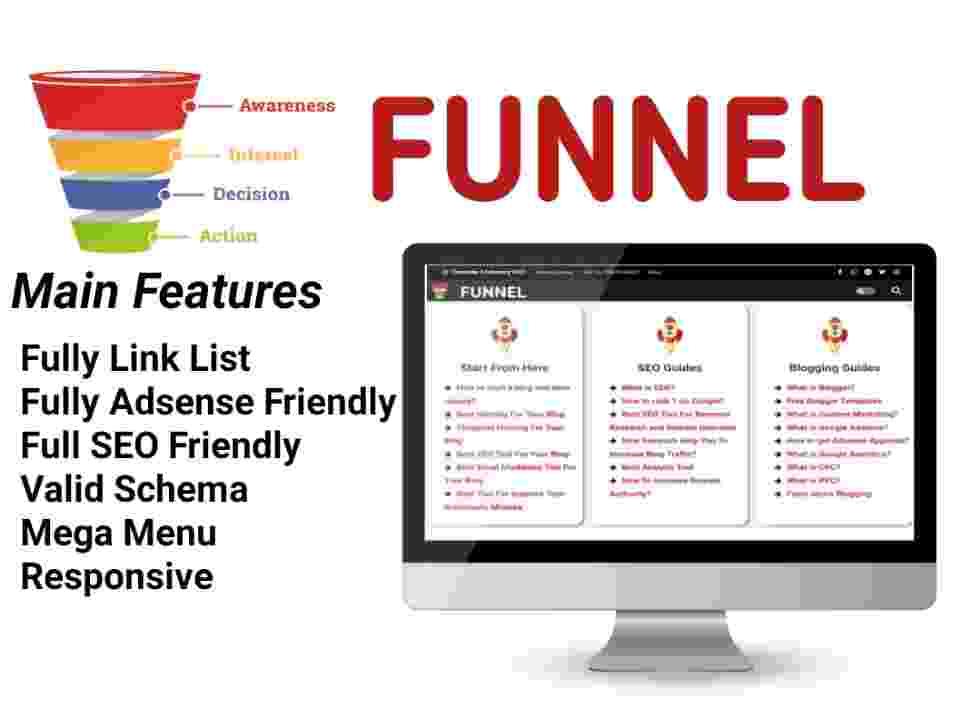 Funnel Blogger Template