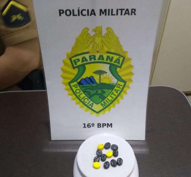 Manoel Ribas: PM apreende pacote com comprimidos de ecstasy em veículo na Avenida Brasil