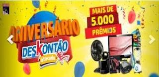 Cadastrar Promoção Deskontão Atacado Aniversário 2019 Mais de 5 Mil Prêmios