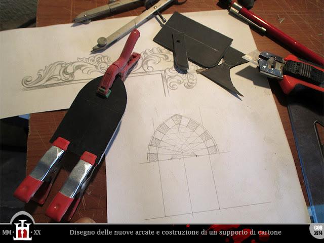 Disegno delle nuove arcate