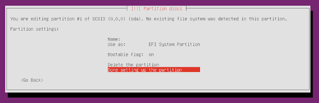 ubuntu minimal cd write partition to disk