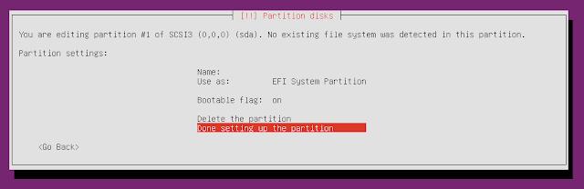 ubuntu minimal cd write partition to disk
