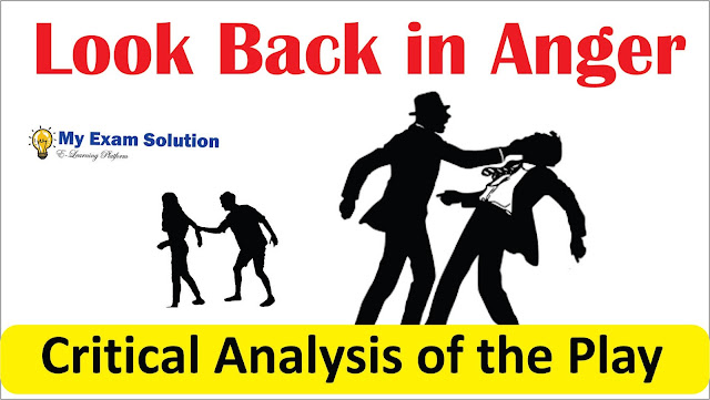 look back in anger, anger, jimmy critical analysis, english literature, ugc net