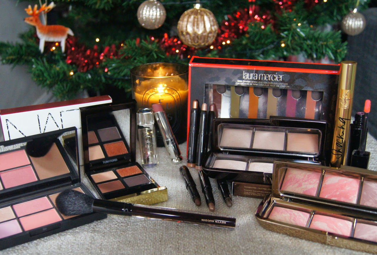 luxury beauty christmas gift guide premium makeup tom ford dior nars YSL hourglass laura mercier kevyn aucoin