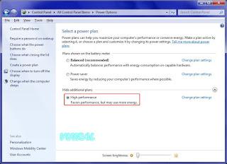 Tips Untuk Mempercepat Performa PC Pada Windows Dengan High Performance