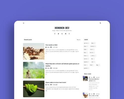 Thumbnail - Hominen - Plantilla responsive para blogger