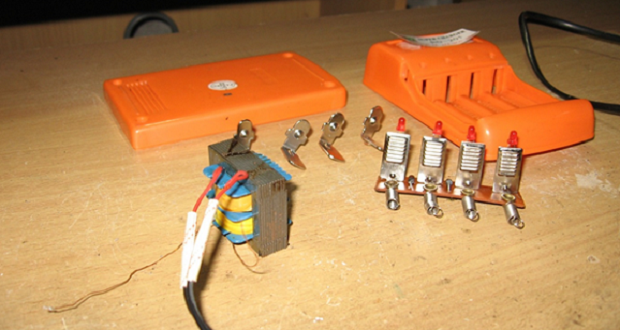 How to make ABC Battery Charger AA 1.5 Volt: 4 PCS simple