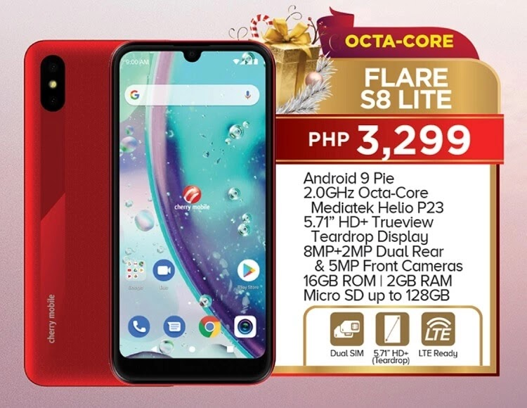 Cherry Mobile Releases Flare S8 Lite, Priced