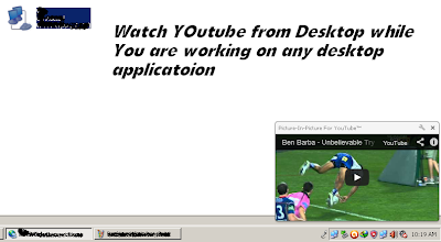 youtube from desktop while working