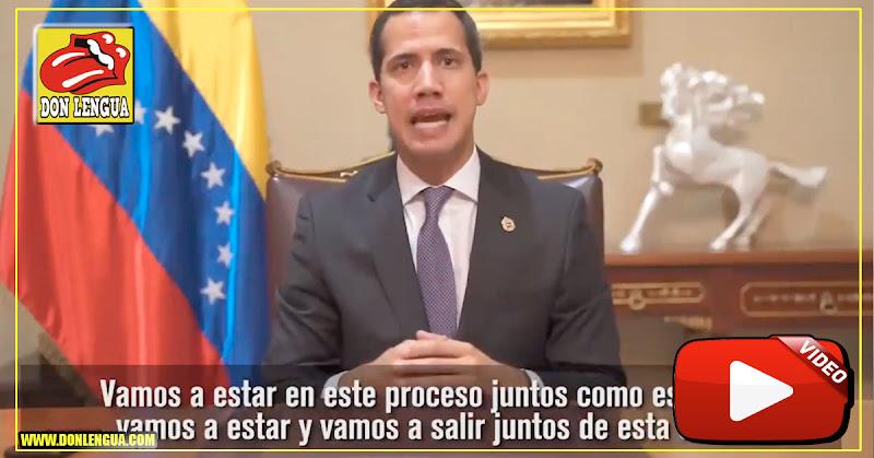 Guaidó envía mensaje en vídeo llamando a vencer la desesperanza