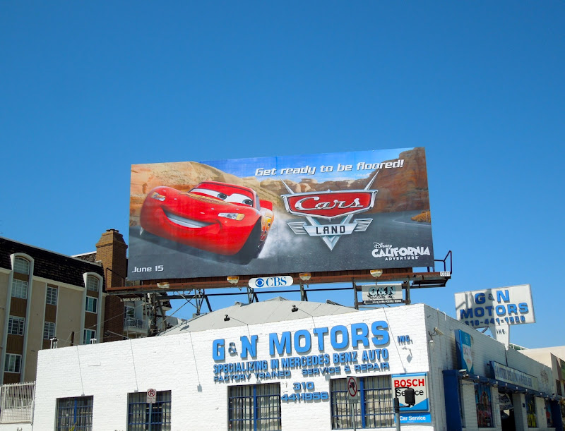 Lightning McQueen Cars Land billboard
