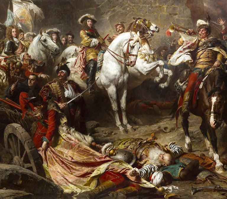 Carlos de Lorena, recupera Budapest. Óleo no castelo de Buda