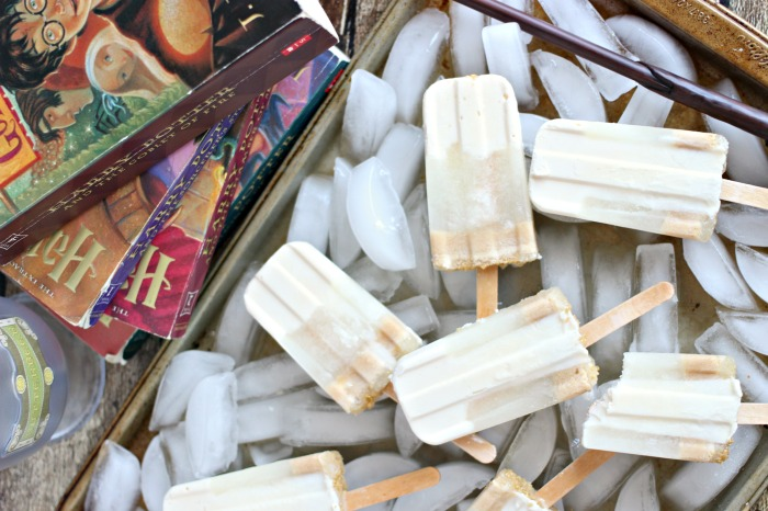 How to make frozen butterbeer popsicles with cream soda and caramel