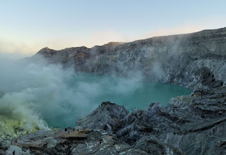 Gunung Ijen, Monte Ijen o Kawah Ijen, Isla de Java, Indonesia.