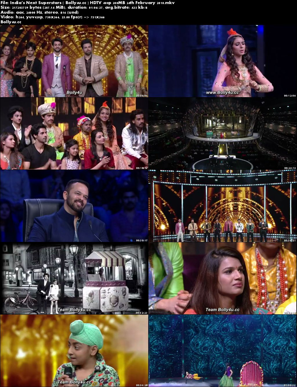 Indias Next Superstars HDTV 480p 200MB 24 February 2018 Download