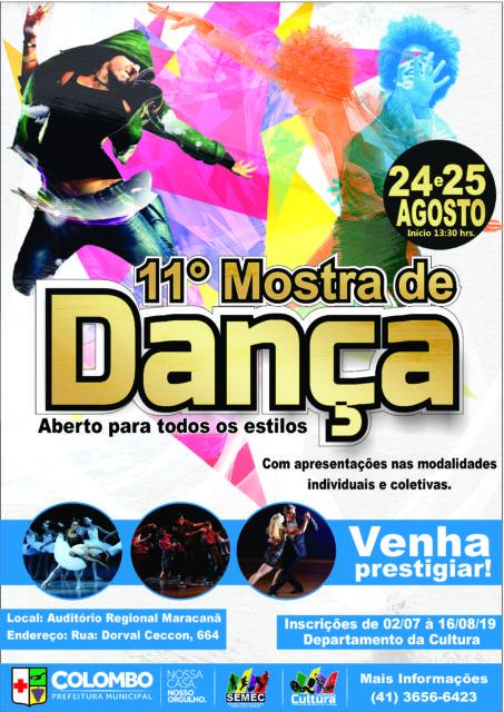 11ª Mostra de Dança de Colombo acontece em agosto