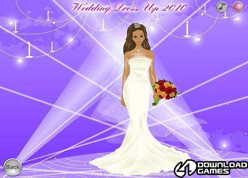 لعبة مكياج تلبيس العروسة Wedding Dress Up 2010 مجانا