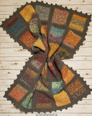 Melynda's pick, Colorful Frankenyarn Blanket.
