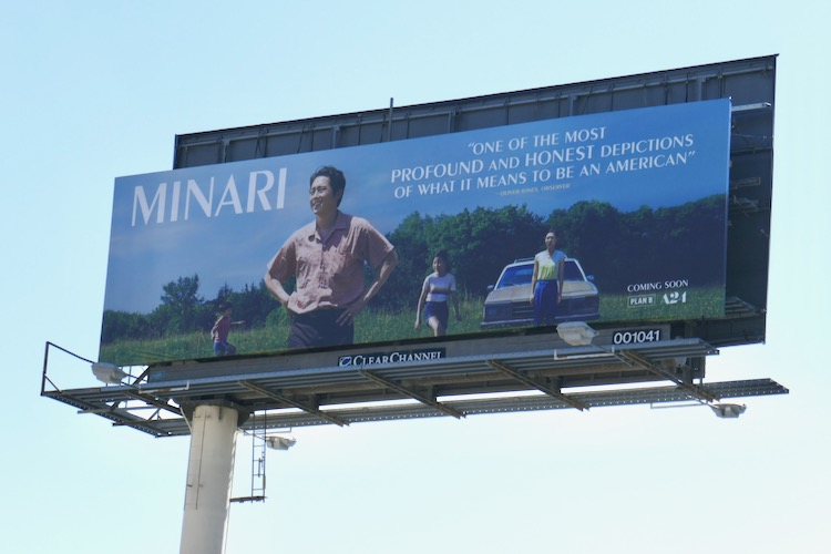 Minari film billboard