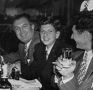Joseph Bonanno, his son Bill, and Gaspar DiGregorio.
