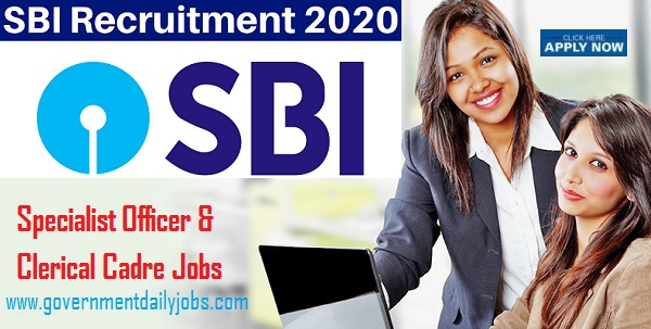 SBI Recruitment 2020 | Specialist Cadre Officer & in the Clerical Cadres Posts