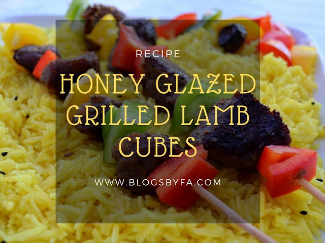 Honey Glazed Grilled Lamb Cubes Recipe