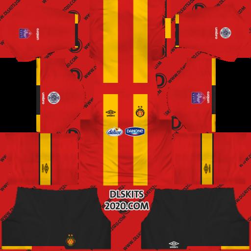Esperance Tunisian Kits 2019-2020 Home for Dream League Soccer Kits 2019