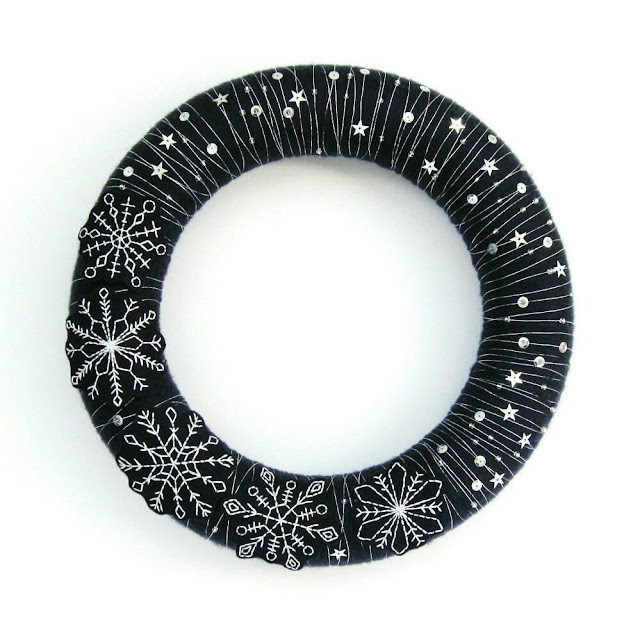 Embroidered Snowflake Wreath
