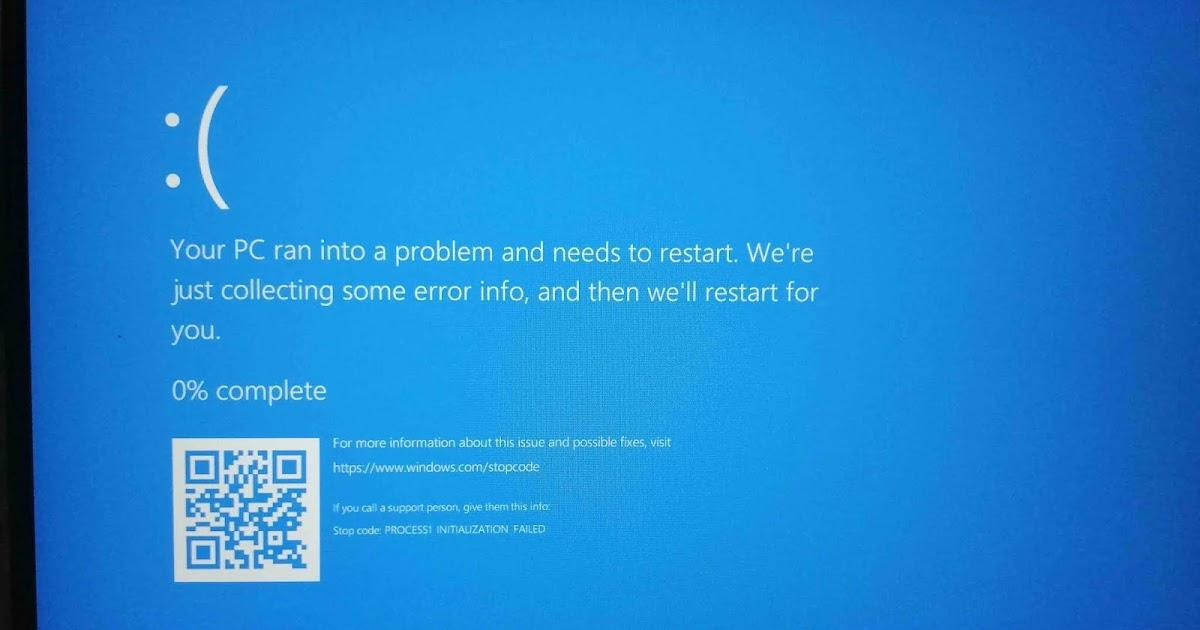 Mengatasi Masalah Your Pc Ran Into A Problem And It Needs To Restart Windows 10 Menggunakan Safe Mode Lab Komputer
