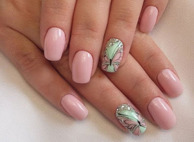 Nail Art of the Spring Butterflies