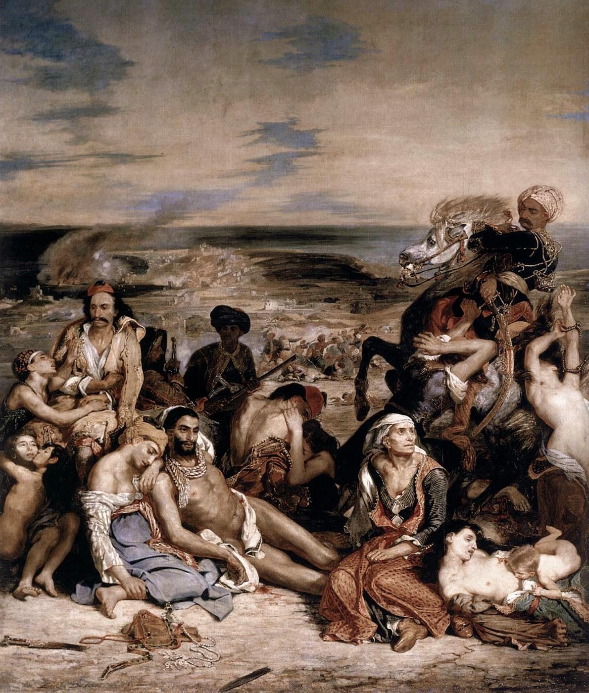 Massacre em Chios - Delacroix, Eugène e suas principais pinturas ~ Romantismo francês