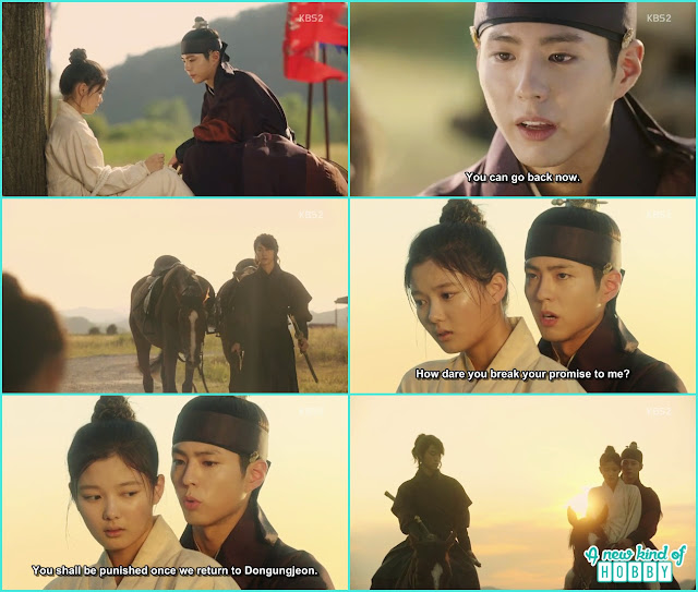 crown prince save ra on and take her to the palace, horse riding  - Love in The Moonlight - Episode 6 Review