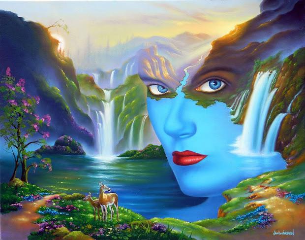 Jim Warren Paintings Mother Nature