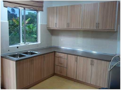 dapur minimalis ukuran 2x2 warna coklat muda