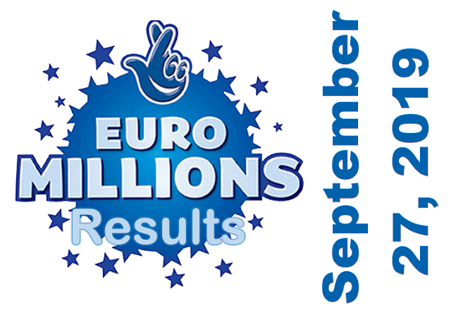 EuroMillions Results for Friday, September 27, 2019