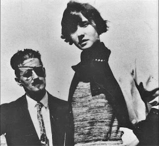 James Joyce with his daughter Lucia Anna Joyce