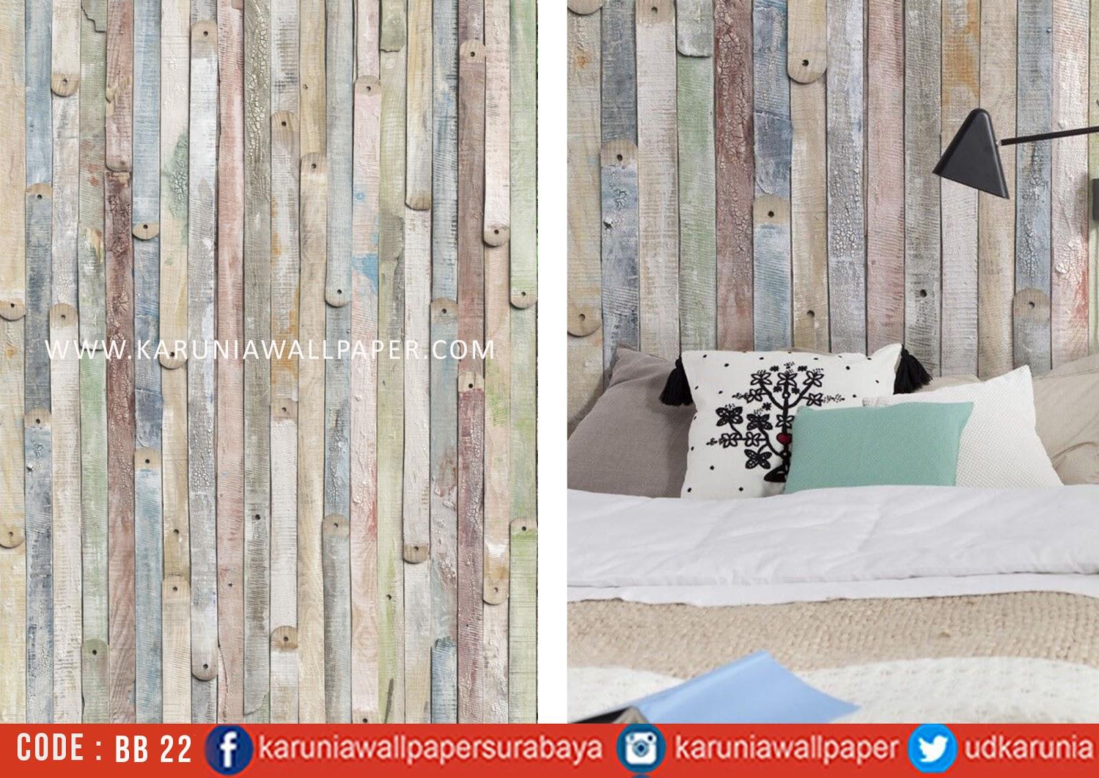 jual wallpaper dinding motif kayu