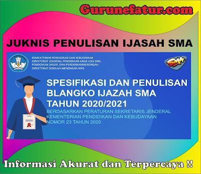 Juknis Penulisan Ijasah SMA Tahun 2020/2021