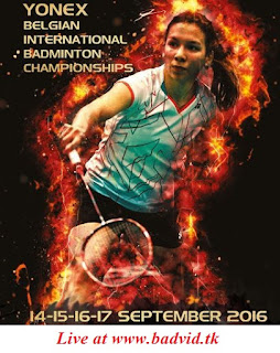 Yonex Belgian International 2016 live streaming
