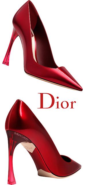Ruby Dior Pumps With Transparent Heel #brilliantluxury