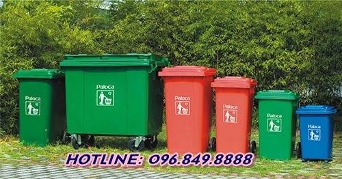 Các loại thùng rác công nghiệp phổ biến