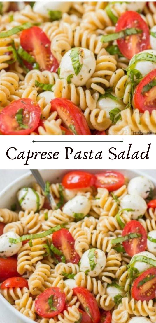 Caprese Pasta Salad #vegan #recipevegetarian