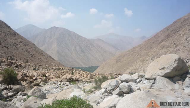 Vista del Valle de Lurín - Camino Inca Chontay California