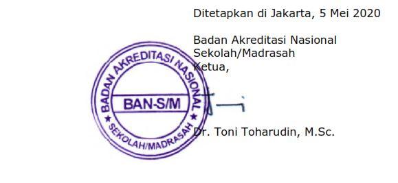 POS Pelaksanaan Akreditasi Sekolah/Madrasah Tahun 2020